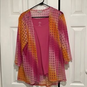 Windows of the world sheer jacket with tank